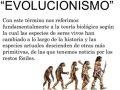 Idea central de la teoría de la evolución